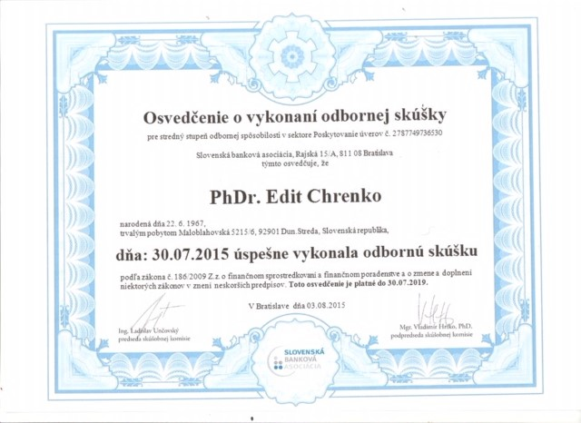 certifikat o uveroch